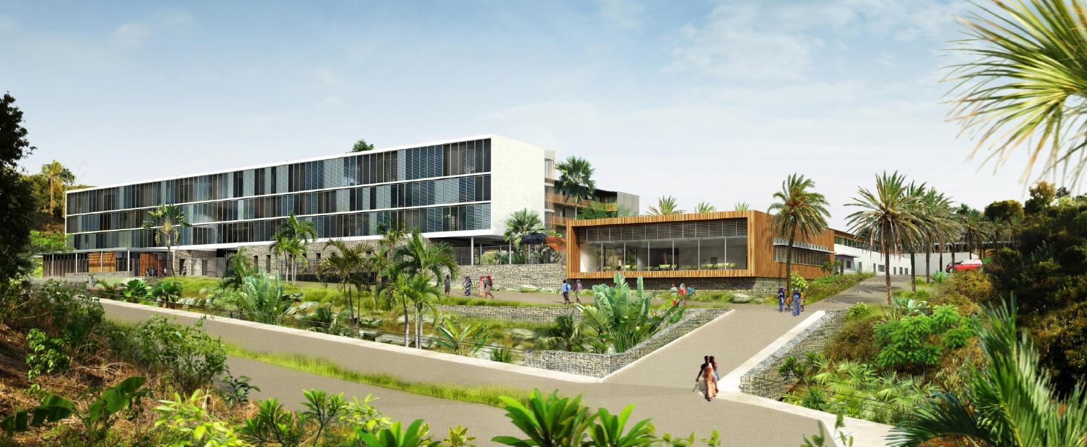 Construction du collège de MAJICAVO à MAYOTTE
