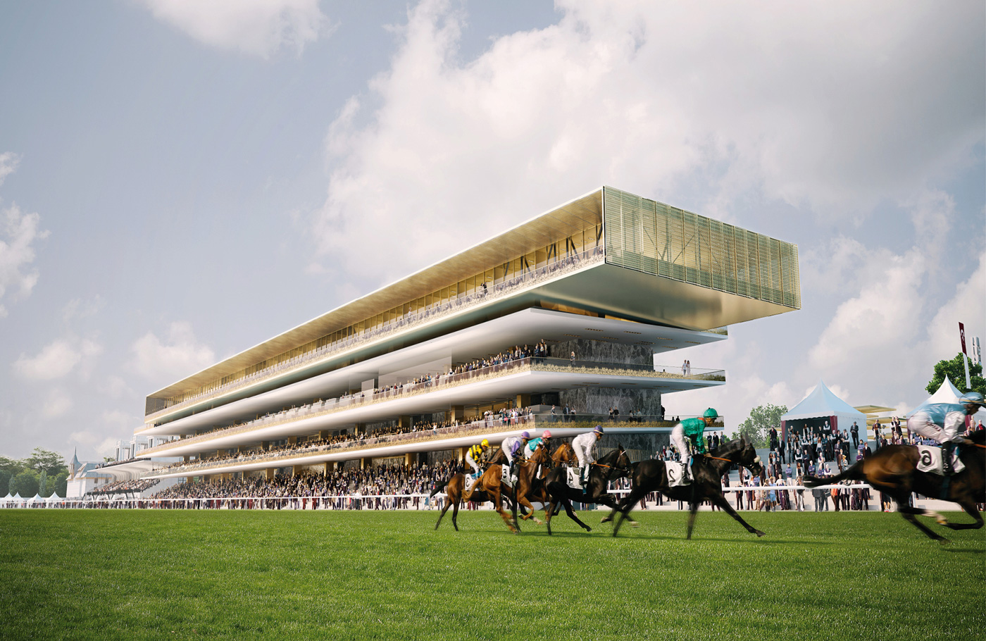 Hippodrome ParisLongchamp - Dominique Perrault Architecture