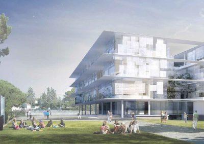 ATRIUM-3 ©SCAU architectes (mandataire), COSTE architectures (associé). Image Inui