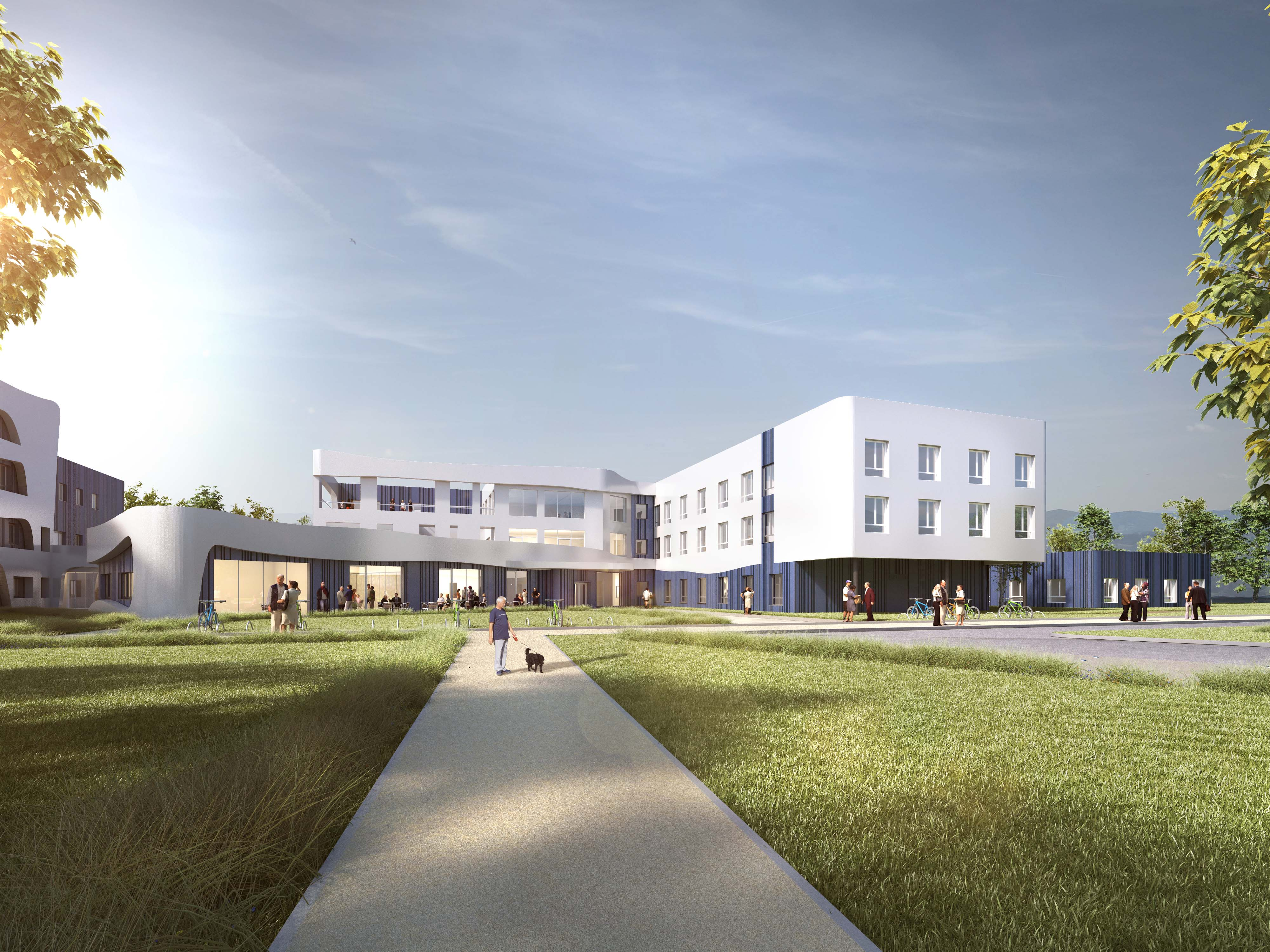 Nouvel hopital et ehpad belley 01 oteis for Architecture projet