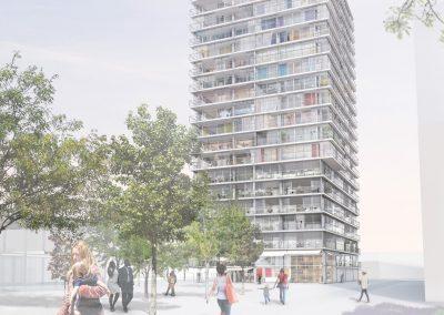 Immeuble de Grande Hauteur à usage mixte – Genève (Suisse)