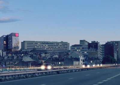 CROUS Gaston Berger Marseille - vue autoroute ©ILR Architecture
