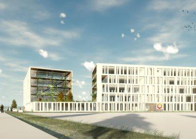 Bureaux OPALINK Gotham - Toulouse Borderouge 4 © Hobo Architecture