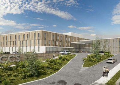 Centre de Cancérologie de la Sarthe – Bâtiment Onco-Hématologie
